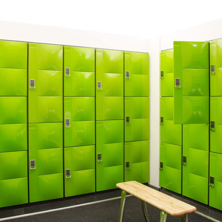 Digilock celare lockers zoe design associates for Designer lockers