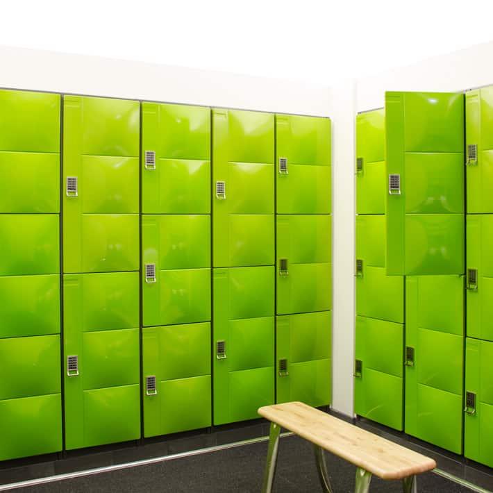 Digilock celare lockers zoe design associates for Designer lockers